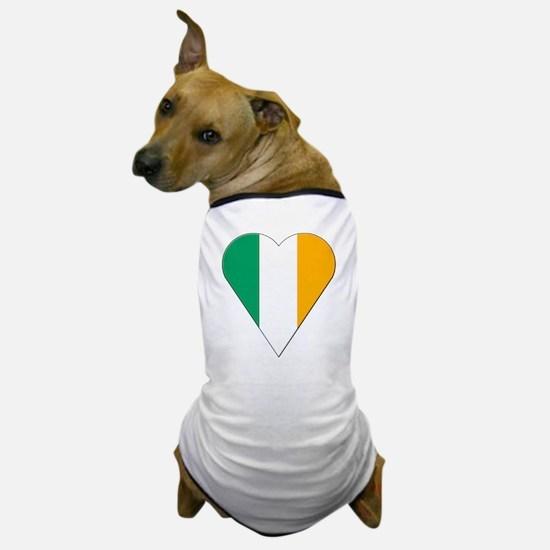 Ireland Heart-Shaped Flag Dog T-Shirt