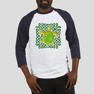 Celtic Knot Turtle (Green) Baseball Jersey