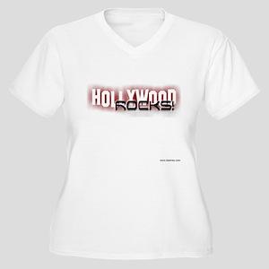 hwood rocks Women's Plus Size V-Neck T-Shirt