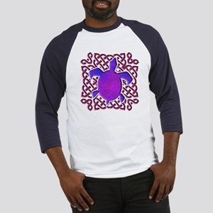 Celtic Knot Turtle (Purple) Baseball Jersey