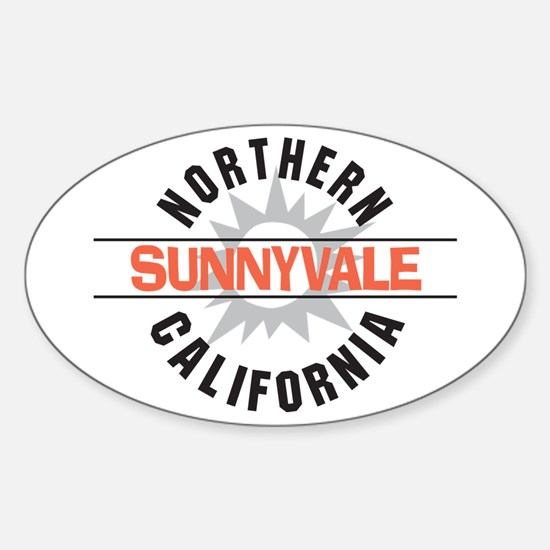 Sunnyvale California Oval Decal