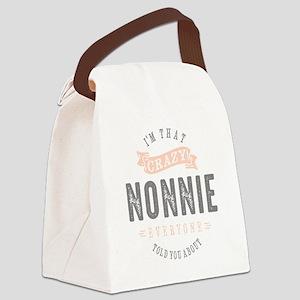 CRAZY NONNIE Canvas Lunch Bag