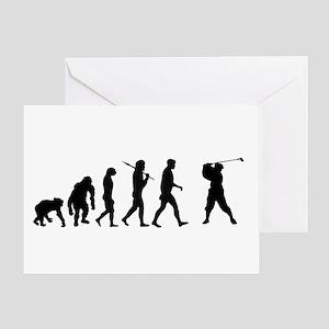 Golf Evolution Greeting Cards