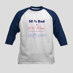 """100% Cute"" - Blue Kids Baseball Jersey"