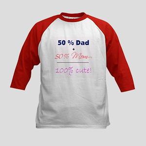 """""""100% Cute"""" - Pink Kids Baseball Jersey"""