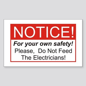 Notice / Electrician Rectangle Sticker