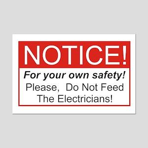 Notice / Electrician Mini Poster Print