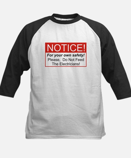 Notice / Electrician Kids Baseball Jersey