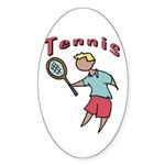 Kid's Tennis Oval Sticker