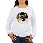 XmasDove/ Scottie Women's Long Sleeve T-Shirt