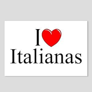 """I Love (Heart) Italianas"" Postcards (Package of 8"