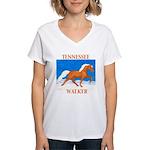 Palomino Tennessee Walker Women's V-Neck T-Shirt