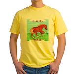 Quarter Horse Action Yellow T-Shirt