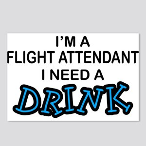 Flight Attendant Need a Drink Postcards (Package o