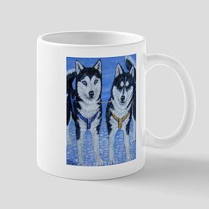 Sled Dog Folk Art Mug