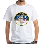 XmasSunrise/Shih Tzu White T-Shirt
