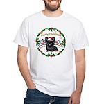 XmasMusic1MC/Skye Terrier White T-Shirt