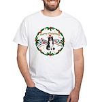 XmasMusic1MC/Border Collie White T-Shirt