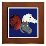 Patriotic Horse Heads Framed Tile
