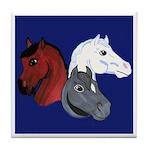 Patriotic Horse Heads Tile Coaster