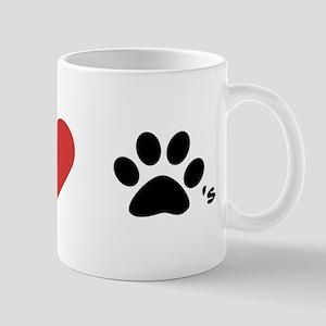 Eye heart paws/I love dogs! Mug