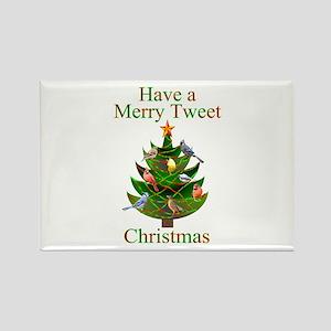 Tweet Christmas Rectangle Magnet