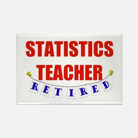 Retired Statistics Teacher Rectangle Magnet (10 pa