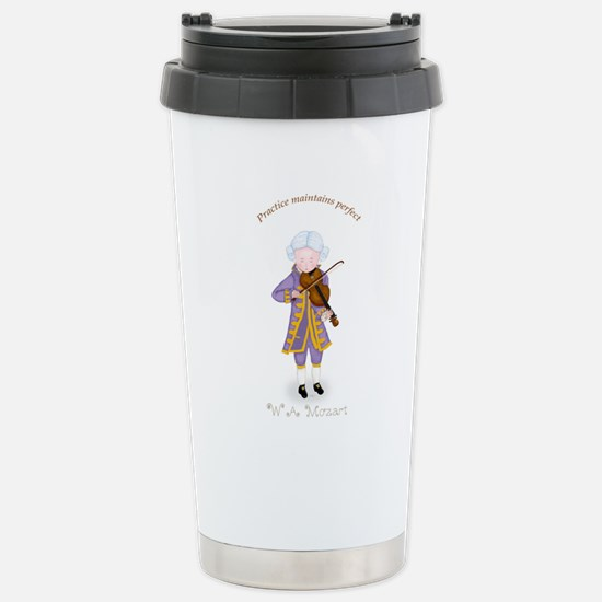Mozart Playing Violin Stainless Steel Travel Mug