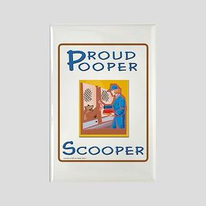 Proud Pooper Scooper - Rectangle Magnet