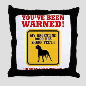 Argentine Dogo Throw Pillow