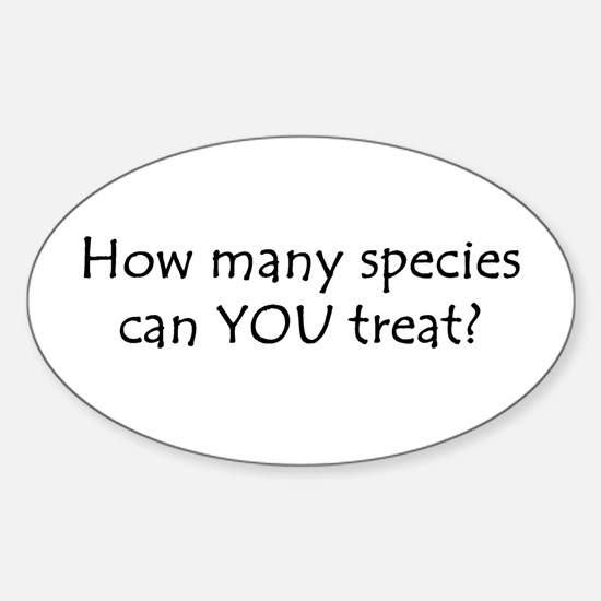 How many species Oval Decal