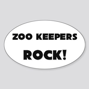 Zoo Keepers ROCK Oval Sticker