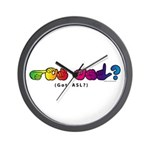 Got ASL? Rainbow CC Wall Clock