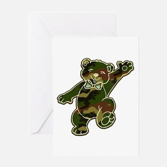 Camo Teddy Bear Greeting Card