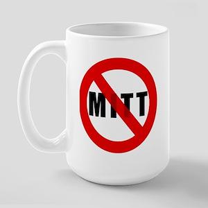 No Mitt Romney Large Mug