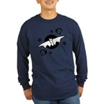 Halloween Bats Long Sleeve Dark T-Shirt