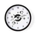 Halloween Bats Wall Clock