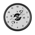 Halloween Bats Large Wall Clock