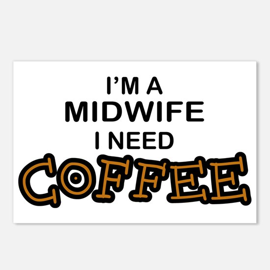Midwife Need Coffee Postcards (Package of 8)