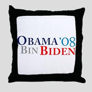 Obama Bin Biden Throw Pillow