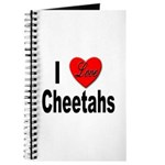 I Love Cheetahs for Cheetah Lovers Journal