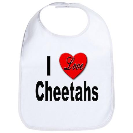 I Love Cheetahs for Cheetah Lovers Bib