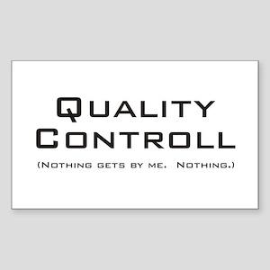Q Controll Rectangle Sticker