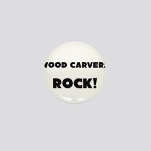 Wood Carvers ROCK Mini Button