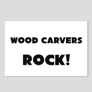 Wood Carvers ROCK Postcards (Package of 8)