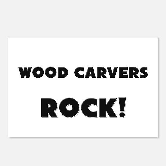 Wood Carvers ROCK Postcards (Package of 8)