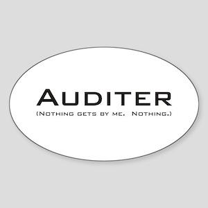 Auditer Oval Sticker