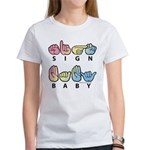 Captioned SIGN BABY SQ Women's T-Shirt