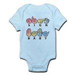 Captioned SIGN BABY SQ Infant Bodysuit