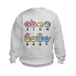 Captioned SIGN BABY SQ Kids Sweatshirt